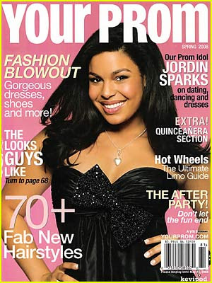 Jordin Sparks is the cover girl for the Spring 2008 issue of Your Prom.