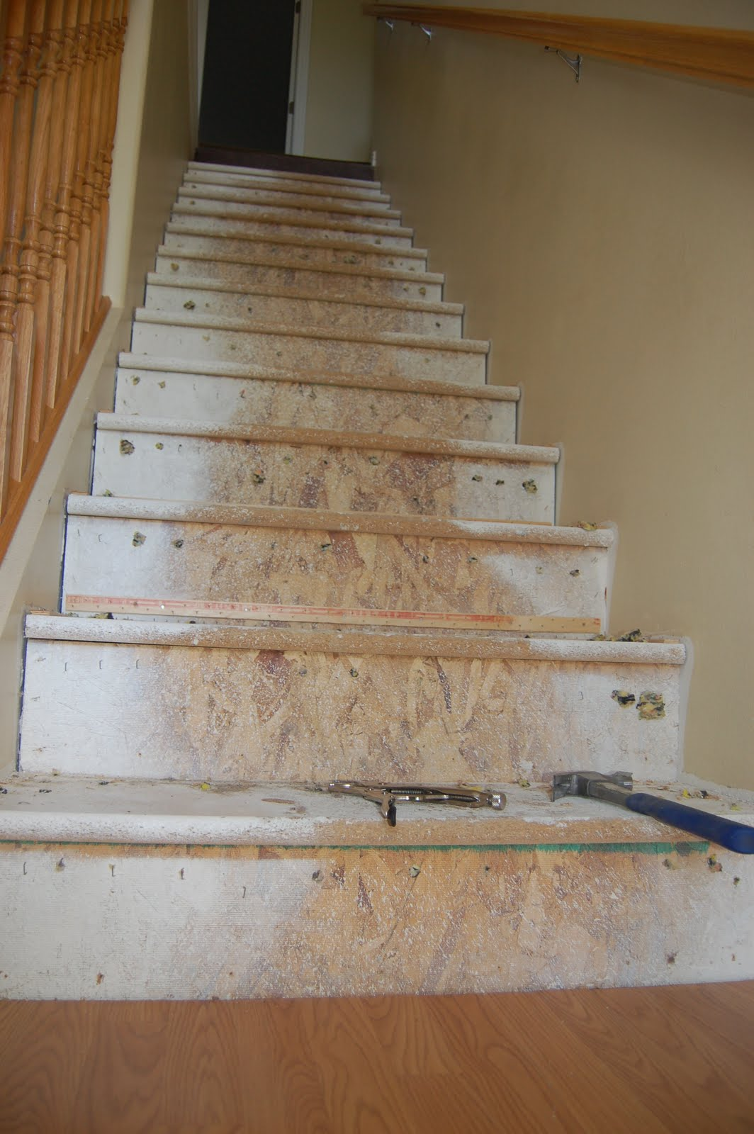 High Quality This Is Exciting, Lovely Particle Board Risers And Tread...... Wish Us Luck!