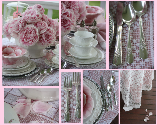 pink peony tablescape and birthday party