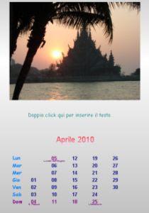creare calendario