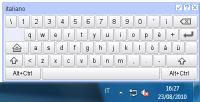 tastiera virtuale su schermo