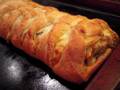 Chicken Pesto Calzone Braid