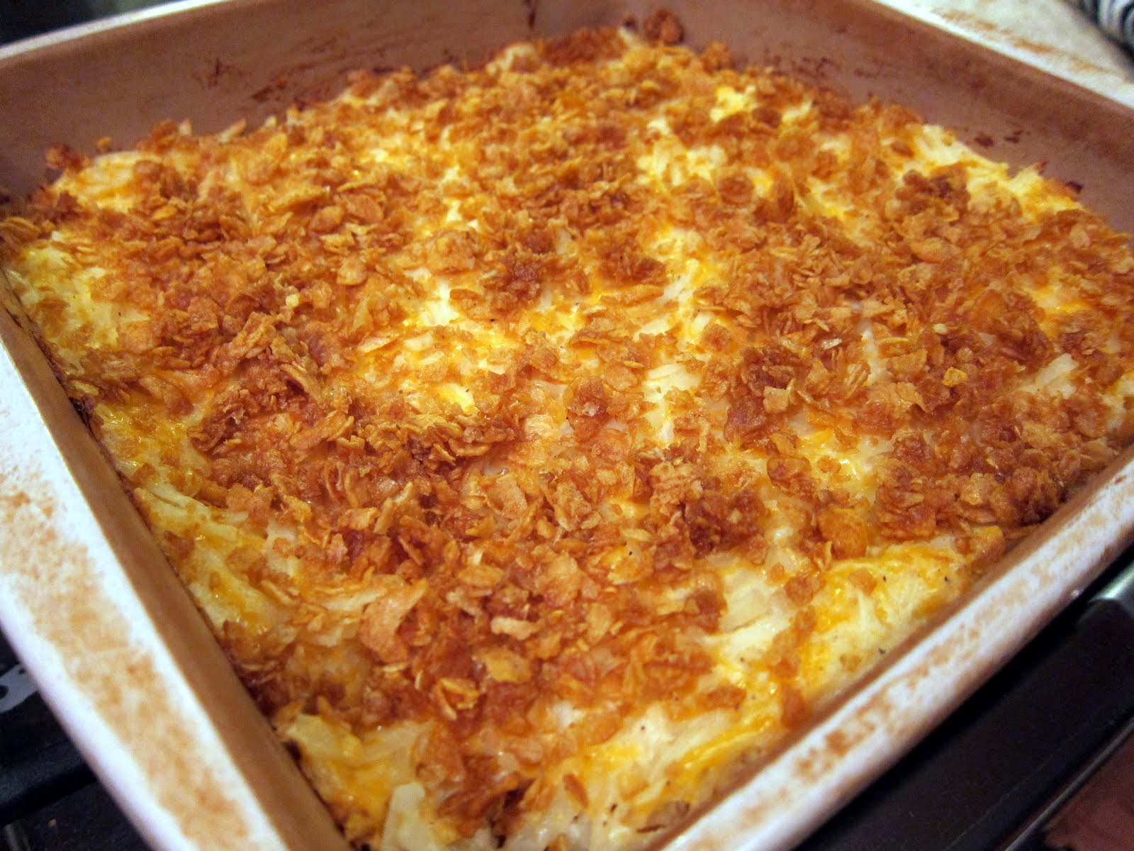 Cheesy Potatoes for 50 People http://www.plainchicken.com/2008/08/cheesy-potato-casserole.html
