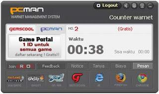 Billing Warnet Alternatif Gratis - PC Manager PCMAN