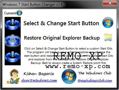 Windows 7 Start Button Changer 2.6