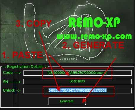 copy unlock code yang di hasilkan kemudian paste di form enter sn klik