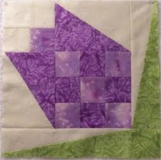 Tulip Quilt Block - Make a Pieced Tulip Quilt Block - Free