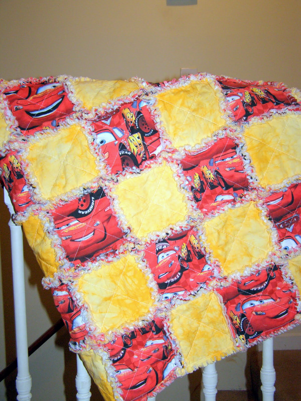 Ragamuffin Quilts Cars Lightning McQueen Toddler Bed Quilts