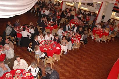 Vista aerea de las mesas del salón
