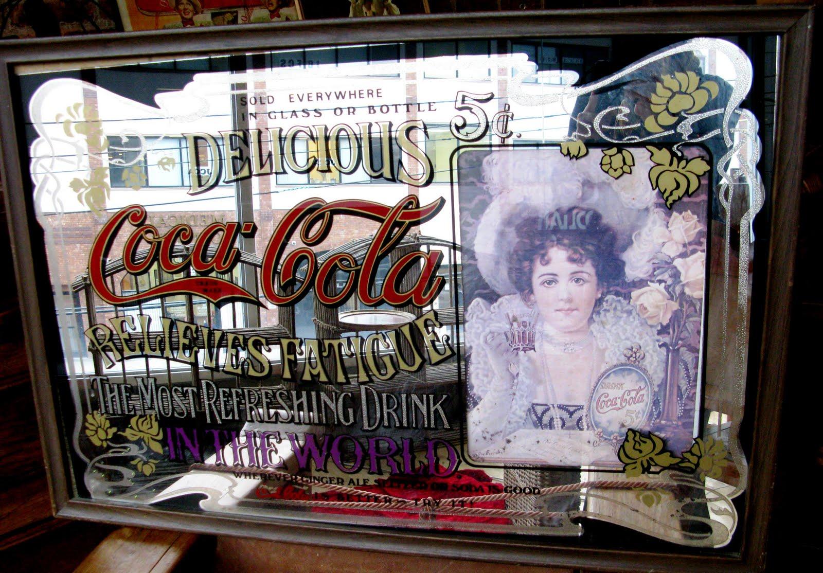 Antiques Vintage And More Coca Cola Mirror