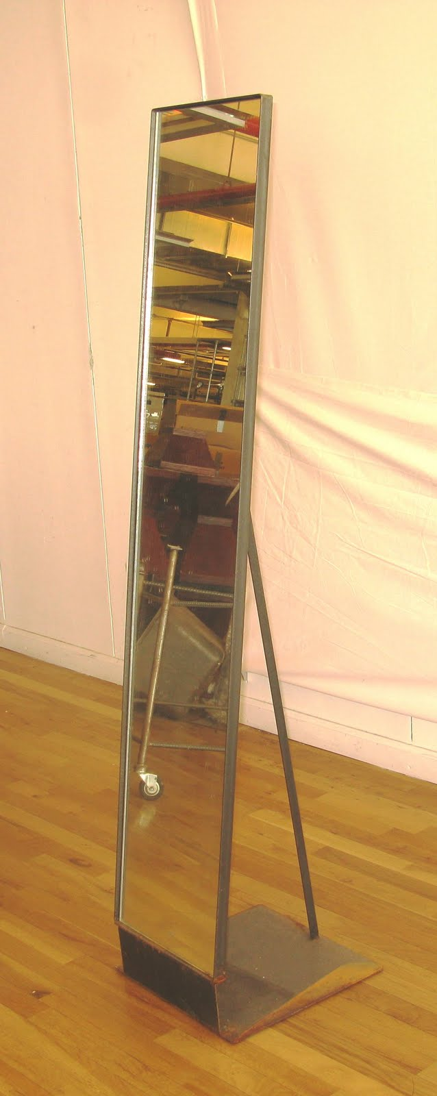 Antiques vintage and more steel frame full lenght mirror for Tall skinny mirror