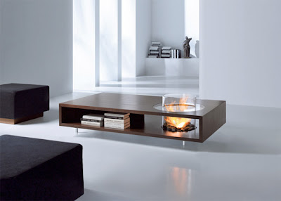 Modern Furniture Coffee Tables With Built in Fireplace