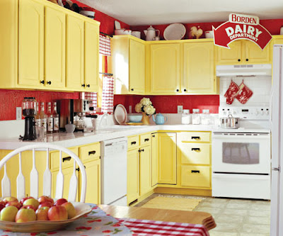 kitchen with yellow cabinetry