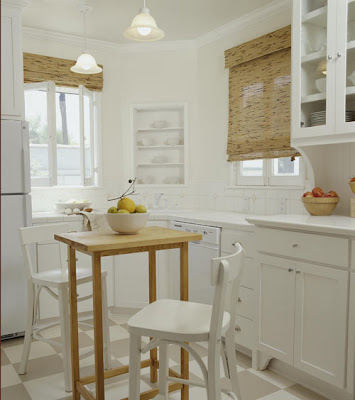 Kitchen with White paint and ceramic tile