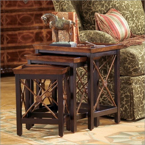 Modern Furniture Wood Nesting Tables