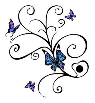 Pictures Butterfly Tattoos on Butterfly Tattoo  Album 4    Tattoo Art Gallery