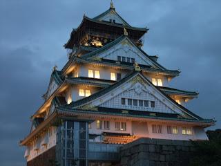 大阪城の黄昏時