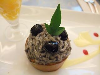 五感北浜本館の黒豆モンブラン