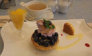五感北浜本館の国産ブルーベリーのメレンゲパイ
