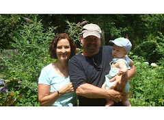 Mom, Dad, and Colston in Garden