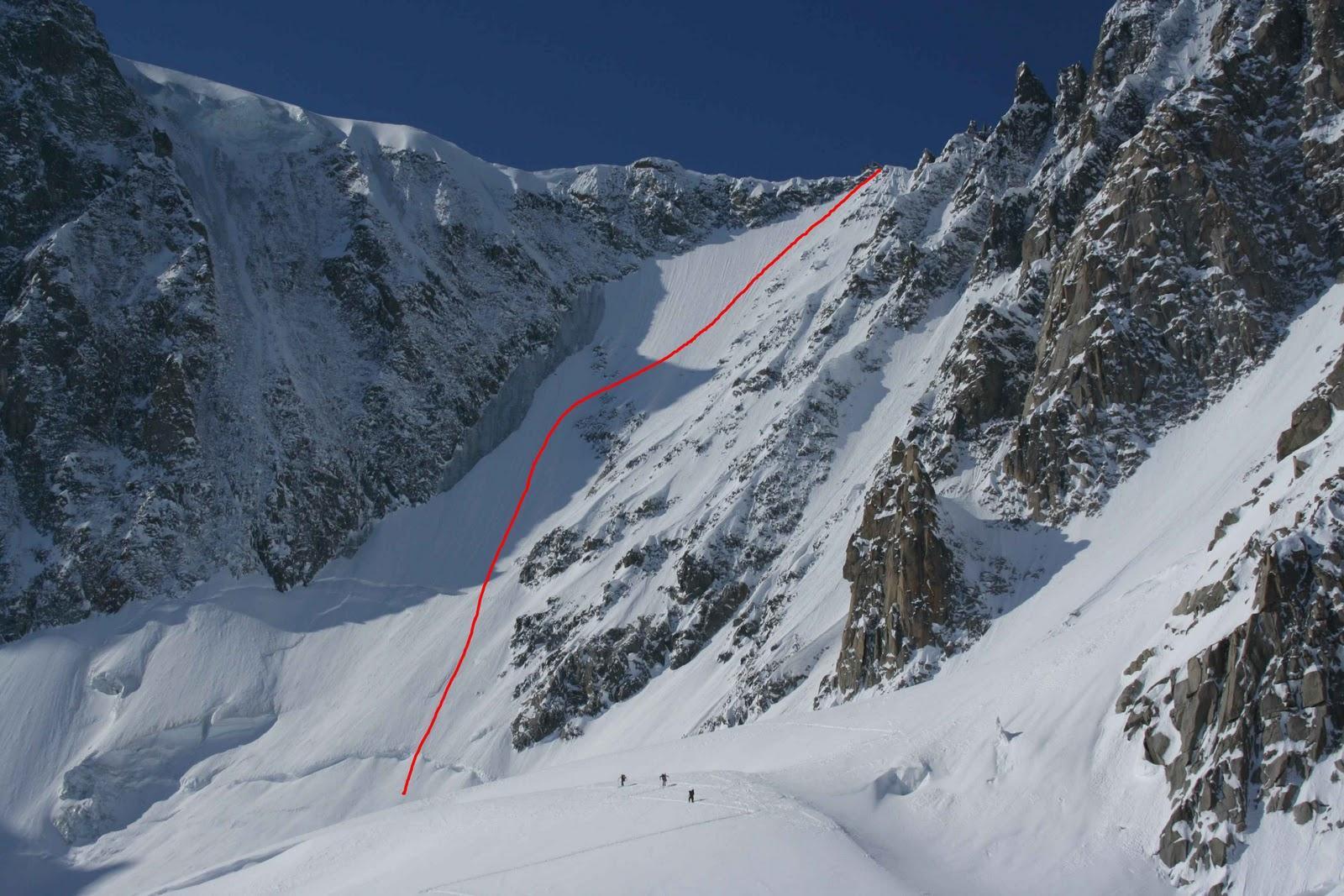 Carnets du Mont-Blanc: Pointe Eales, pan de rideau nord-est