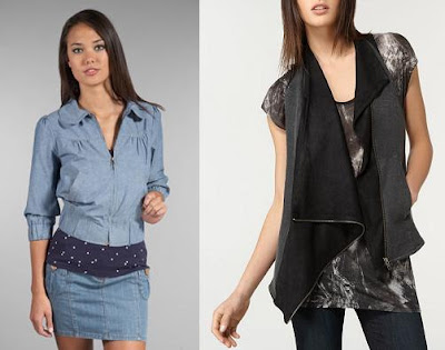 denim jacket outfits. -left Mink Pink denim jacket