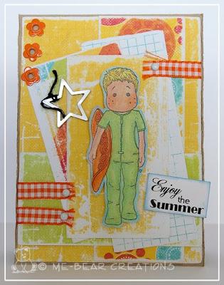 scrapbooking, card, scrapcard, magnolia, kaart, scrapkaart, derwent, stempel, stamp, summer, zomer