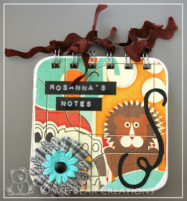 scrapbook, scrapbooking, scrappen, BIA, bind it all, sassafras lass, bungle jungle, altered art, post-it holder, post-it, note-holder, note, notebook, homemade