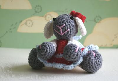 amigurumi, softie, sweet, cute, kawaii, crochet, handmade, diy, homemade, sheep, dress, knuffel, lief, schattig, haken, gehaakt, handgemaakt, zelfgemaakt, schaap, jurk