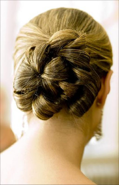 wedding gown lifestyle model hairstyle