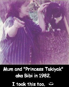 Mum and Princess Tukiyak 1982