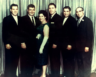 Grandma Tessie and her boys - Uncle Artie, Uncle Gene, Grandma Tessie, Uncle John, My Poppy, and Uncle Joe