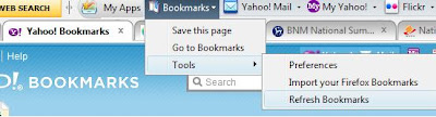 Yahoo Bookmarks not working well