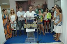 Nuestro alcalde con los jóvenes