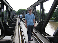 Me on the Bridge over the River Kwai, Kanchanaburi