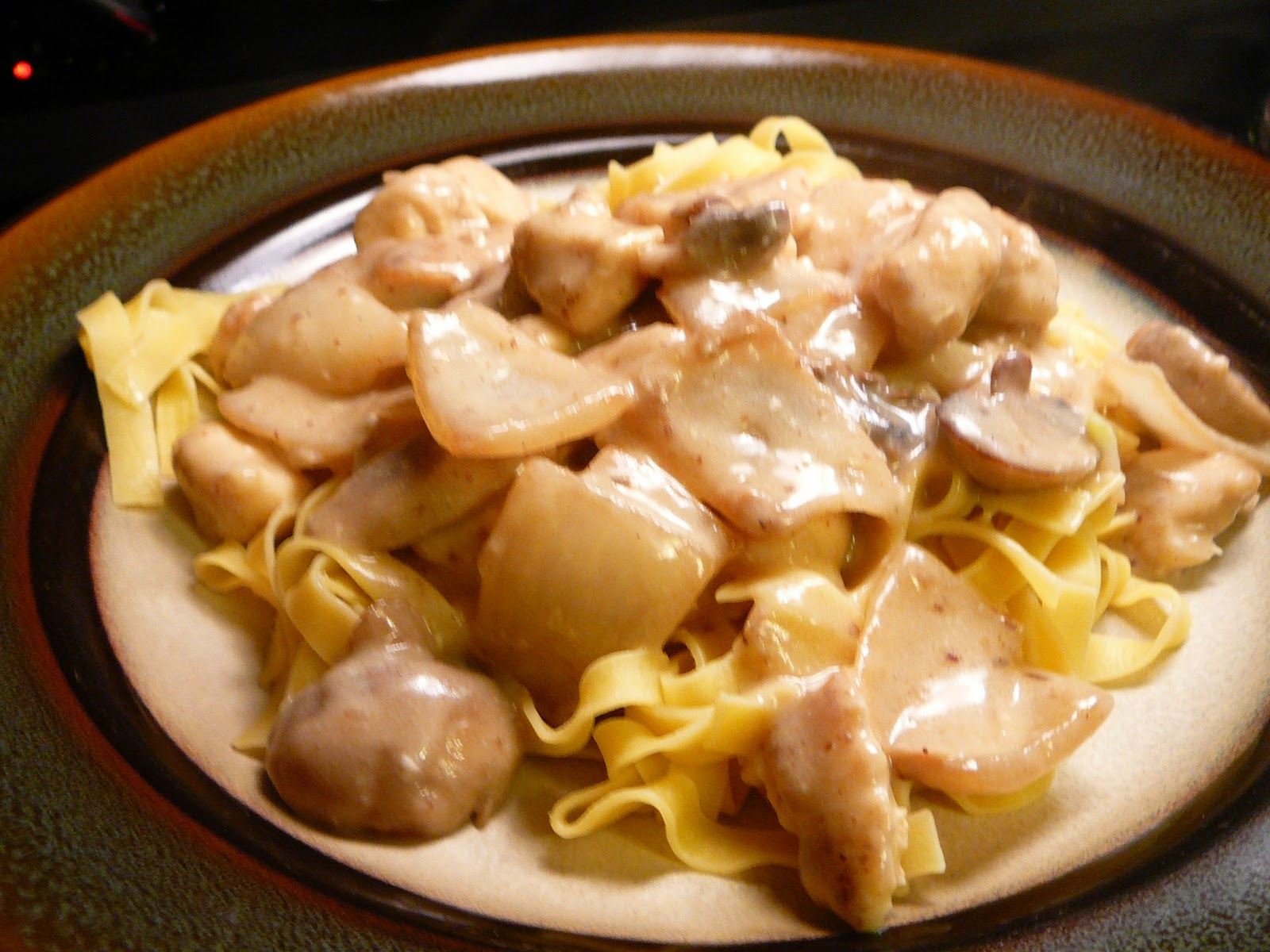 Peacock Coffeehouse: Chicken Stroganoff