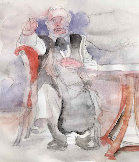 abbot signals resignment - wolfgang glechner drawing