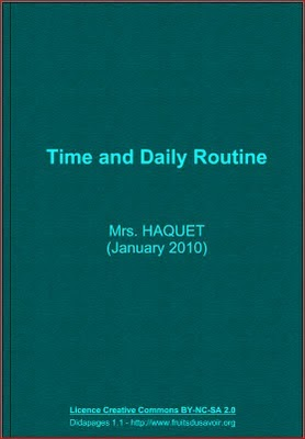 Resultado de imagen de college chagall interactive book time and daily routine
