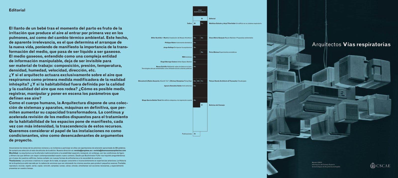 el segundo nmero de de la revista arquitectos arquitectos vas editada por el cscae y dirigida por