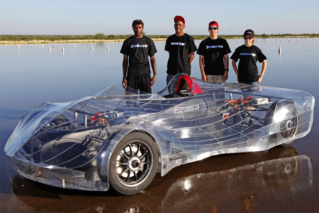 aerodynamic co2 cars. The car, which is mounted on