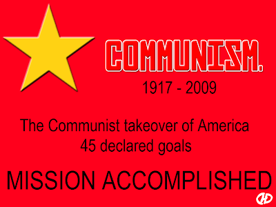 communism star The Communist Takeover Of America   45 Declared Goals