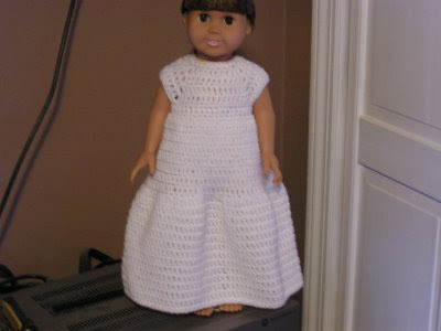 Girls Dress Patterns Free on Free Crochet Pattern   American Girl Doll Wedding Dress From The Dolls
