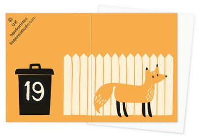 silk screen fox card