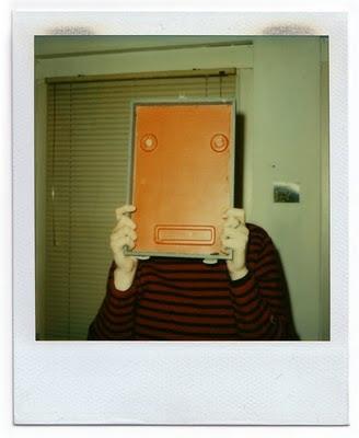 cubist polaroid portrait