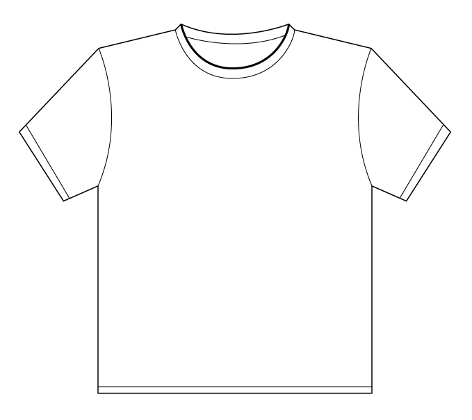 Slot distribution for Blank t shirt design template