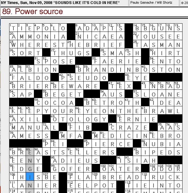 Crossword Clue Like A Lion  Letters