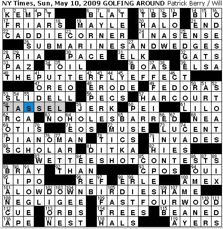 Rex Parker Does The Nyt Crossword Puzzle Londonderry Lad Sunday May 10 2009 P Berry