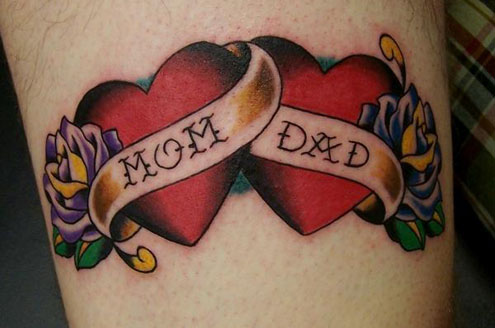 heart tattoos for girls on wrist. dad tattoos for daughters.