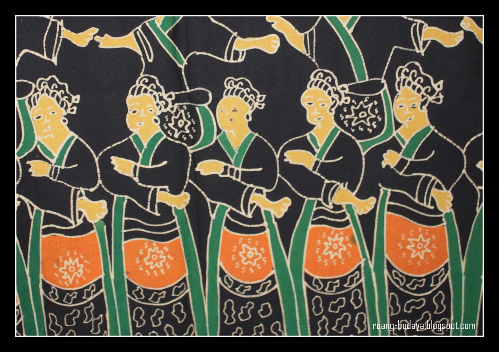 culture + visual + archives: Batik Betawi Motif Penari Topeng