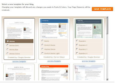 Choose Your Blogger Blog Template